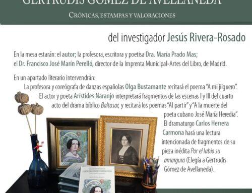 """""""Por el labio su amargura"""", mi elegía sobre Gertrudis Gómez de Avellaneda."""